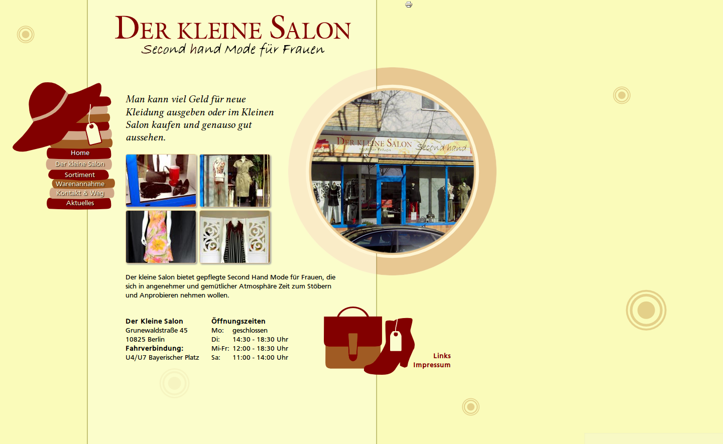 Der kleine Salon: Website - Start