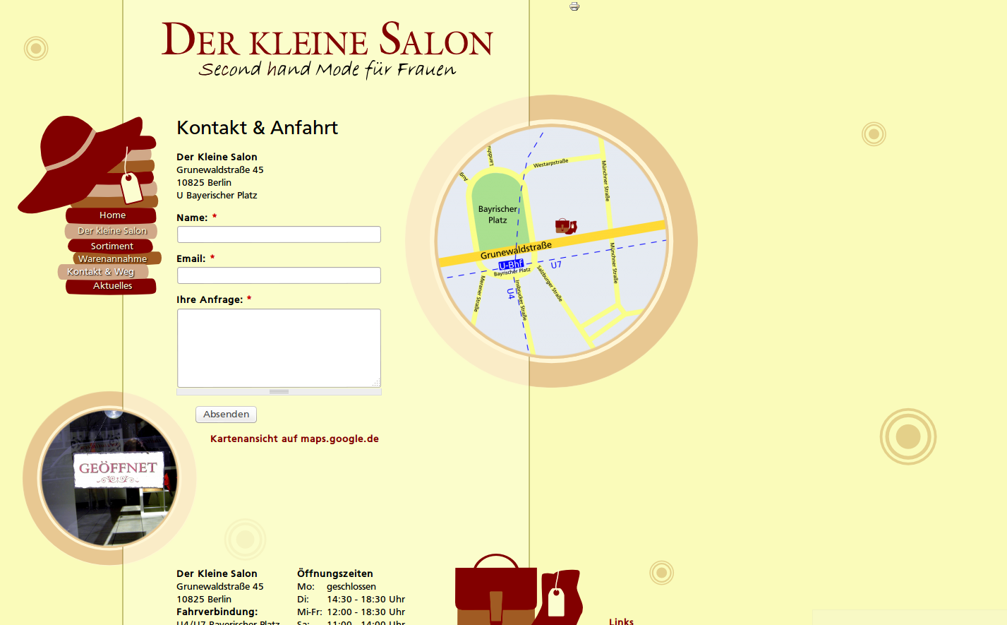 Der kleine Salon: Website - Kontakt