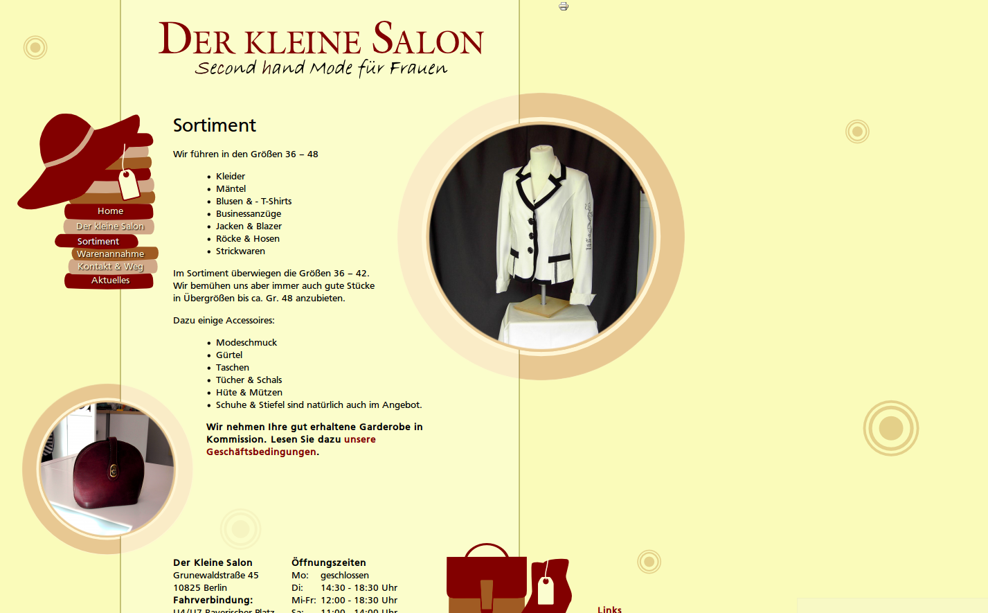 Der kleine Salon: Website - Sortiment